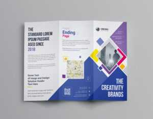 Neptune Professional Corporate Tri-Fold Brochure Template 001207 with Professional Brochure Design Templates