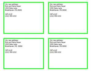 New Address Cards | New Address Card Template for Free Moving House Cards Templates