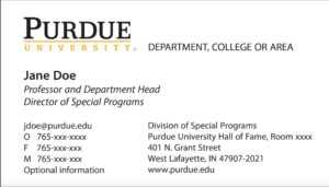 New Business Card Template Now Online – Purdue University News within Graduate Student Business Cards Template