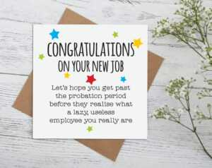 New Job Greeting Card ~ Sorry You're Your Leaving, Good Luck, Lazy Useless  Employee, Goodbye Cards, Bye, Gift Idea, Rude, Naughty, Funny G6 within Sorry You Re Leaving Card Template