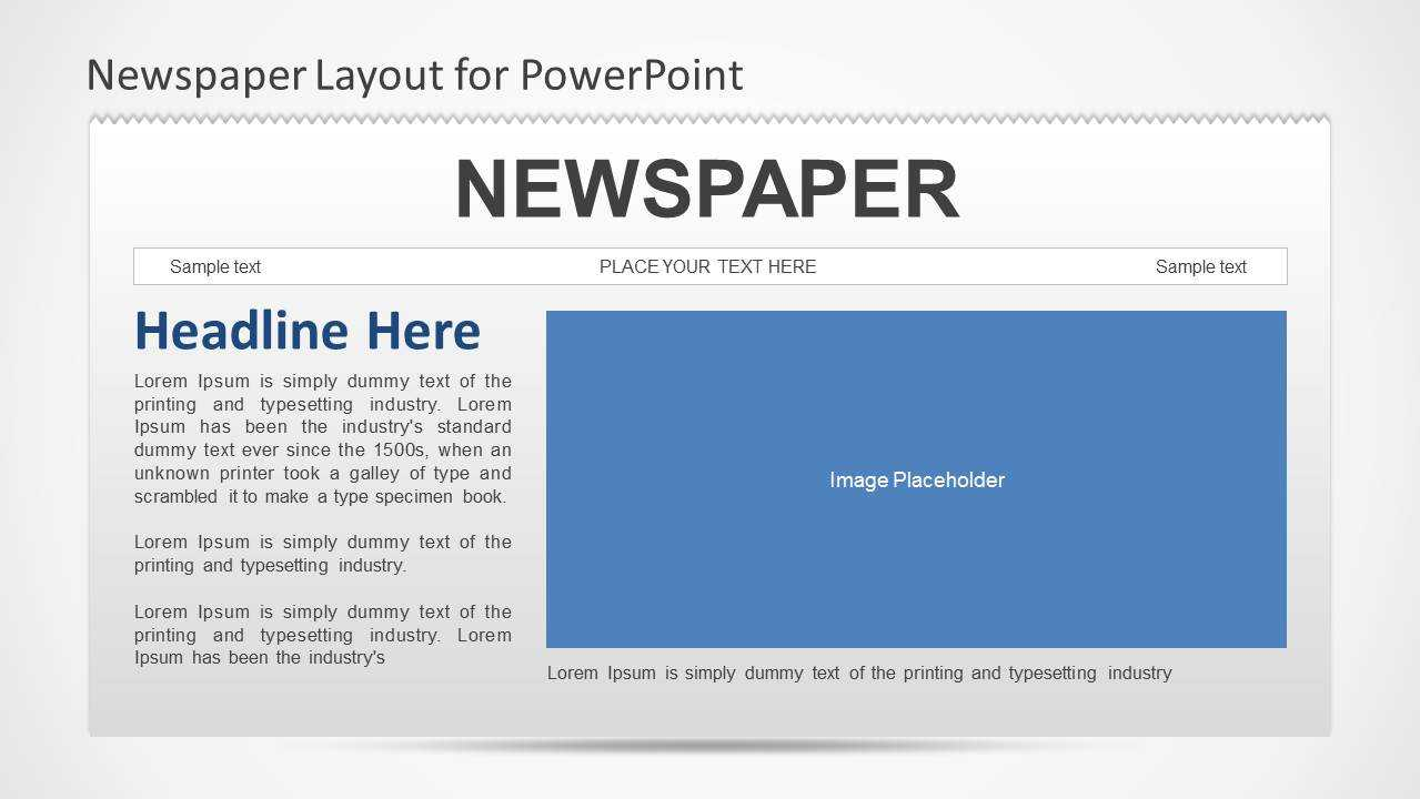 Newspaper Powerpoint Template Pertaining To Newspaper Template For Powerpoint