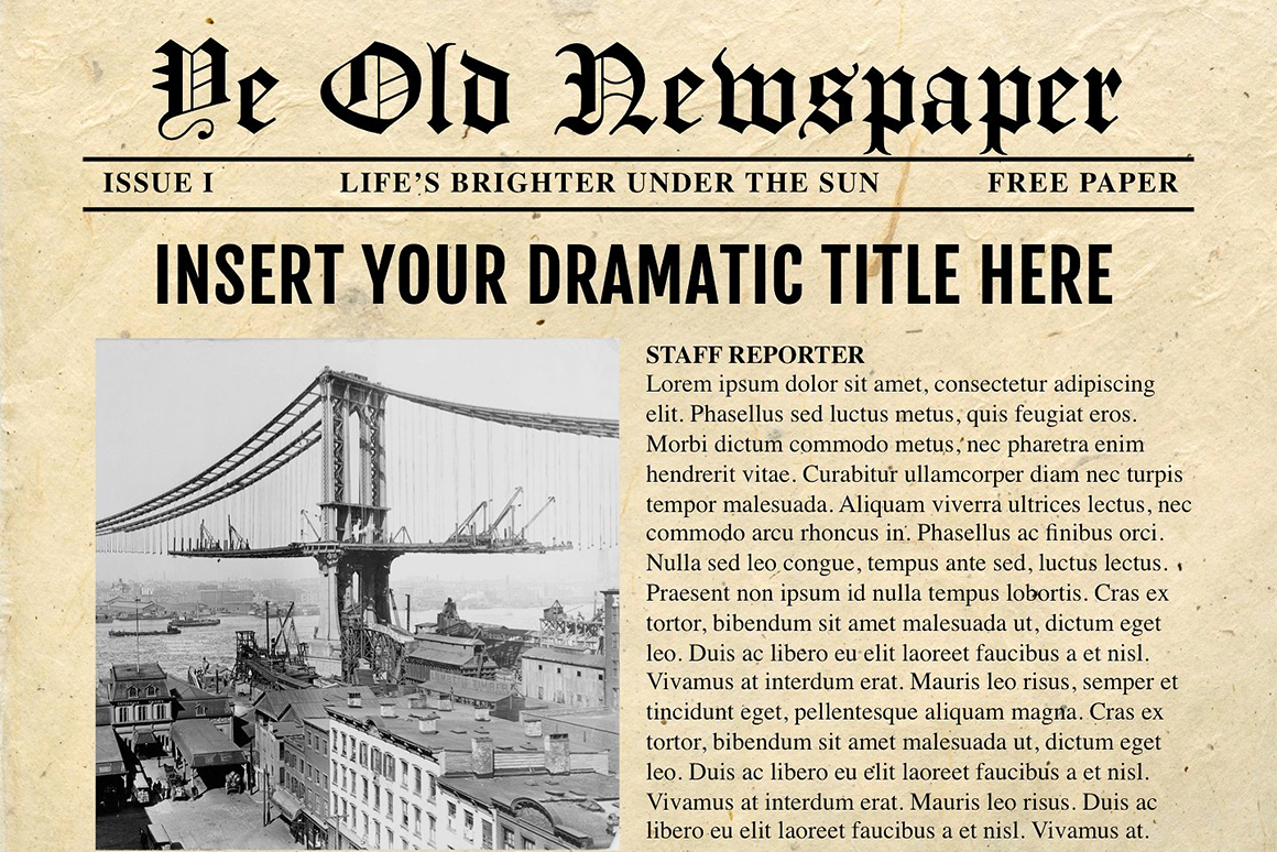 Newspaper Template For Powerpoint - Vsual With Regard To Newspaper Template For Powerpoint