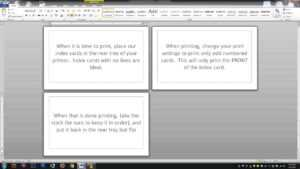 Note/index Cards – Word Template pertaining to Index Card Template Google Docs