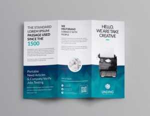Ocean Corporate Tri-Fold Brochure Template 001169 regarding Brochure Psd Template 3 Fold