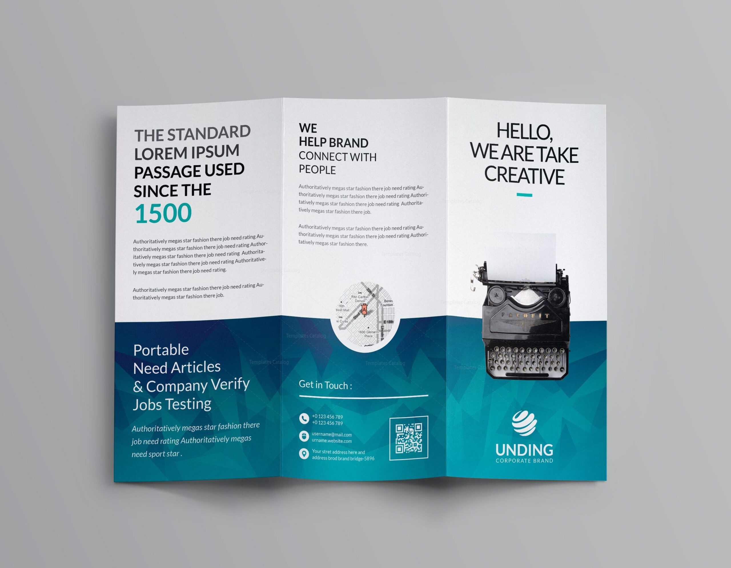 Ocean Corporate Tri Fold Brochure Template 001169 Within Brochure 3 Fold Template Psd