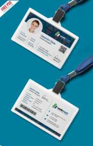 Office Id Card Design Psd | Psdfreebies inside College Id Card Template Psd