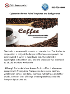 Online Starbucks Powerpoint Template And Presentation with regard to Starbucks Powerpoint Template