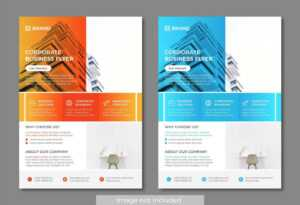 Orange And Blue Modern And Clean Business Flyer Templates pertaining to Cleaning Brochure Templates Free