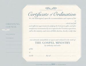 Ordination Flat Certificate (Pkg 6) – B&h Publishing in Certificate Of Ordination Template