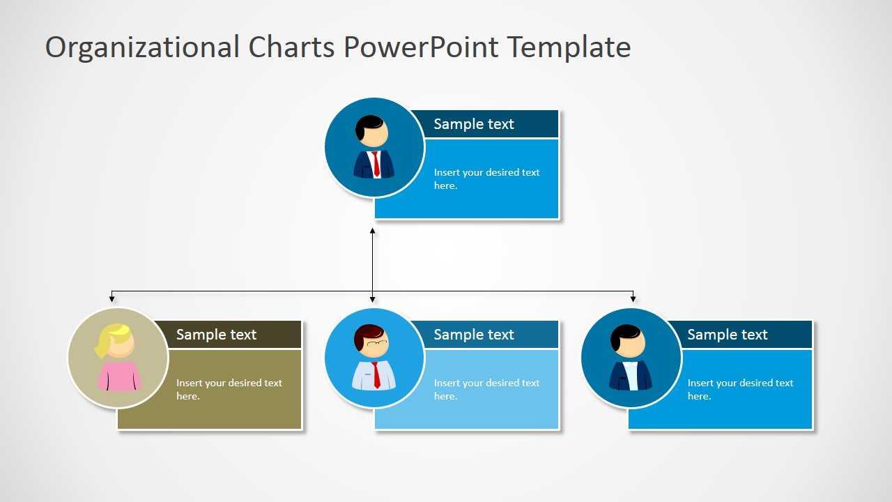 Organizational Charts Powerpoint Template Regarding Microsoft Powerpoint Org Chart Template
