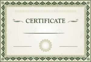 Ornamental Certificate Border And Template throughout Free Printable Certificate Border Templates