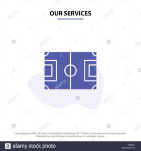 Our Services Field, Football, Game, Pitch, Soccer Solid in Football Referee Game Card Template