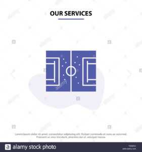 Our Services Field, Football, Game, Pitch, Soccer Solid regarding Soccer Referee Game Card Template