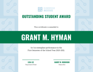 Outstanding Student Certificate Template regarding Student Of The Year Award Certificate Templates
