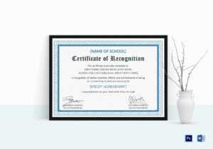 Outstanding Student Recognition Certificate Template In Recognition Of Service Certificate Template
