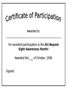 Participation Certificate – 6 Free Templates In Pdf, Word throughout Sample Certificate Of Participation Template