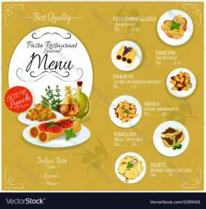 Pasta Menu Card Template in Frequent Diner Card Template