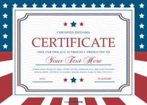 Patriotic Style Certificate Template – Download Free Vectors regarding Classroom Certificates Templates