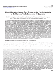 Pdf) Global Matrix 2.0: Report Card Grades On The Physical within Boyfriend Report Card Template
