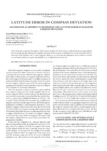 Pdf) Latitude Error In Compass Deviation: Mathematical regarding Compass Deviation Card Template
