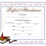 Perfect Attendance Certificate - Download A Free Template regarding Perfect Attendance Certificate Template