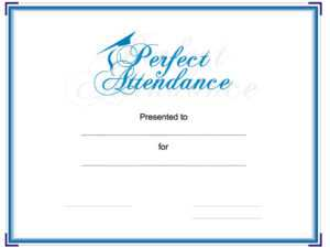 Perfect Attendance Powerpoint Ppt Template, Perfect with Powerpoint Award Certificate Template