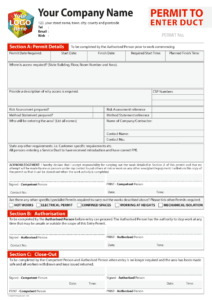 Permit To Work Template For Carbonless Printing From £40 in Electrical Isolation Certificate Template