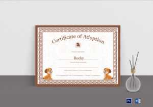 Pet Adoption Certificate Template throughout Pet Adoption Certificate Template