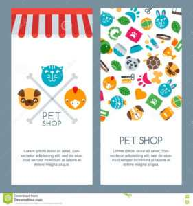 Pet Shop, Zoo Or Veterinary Banner, Poster Or Flyer Template pertaining to Zoo Brochure Template