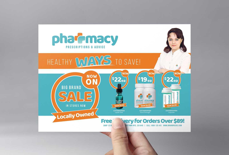 Pharmacy Flyer Template - Psd, Ai & Vector - Brandpacks Regarding Pharmacy Brochure Template Free