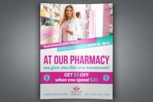 Pharmacy Flyer Template with Pharmacy Brochure Template Free