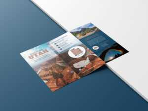 Photo Centric Outdoor Travel Brochure Idea – Venngage inside Travel Guide Brochure Template