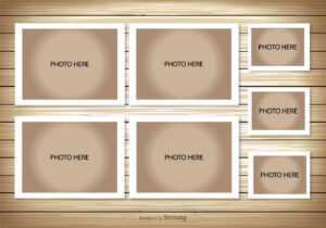 Photo Collage Template – Download Free Vectors, Clipart with Birthday Card Collage Template