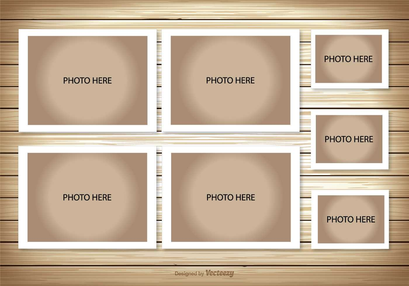Photo Collage Template - Download Free Vectors, Clipart With Birthday Card Collage Template