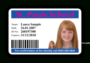 Photo Id Card Design To Suite Your Individual Needs regarding High School Id Card Template