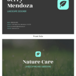 Photo Landscaping Business Card Template In Landscaping Business Card Template