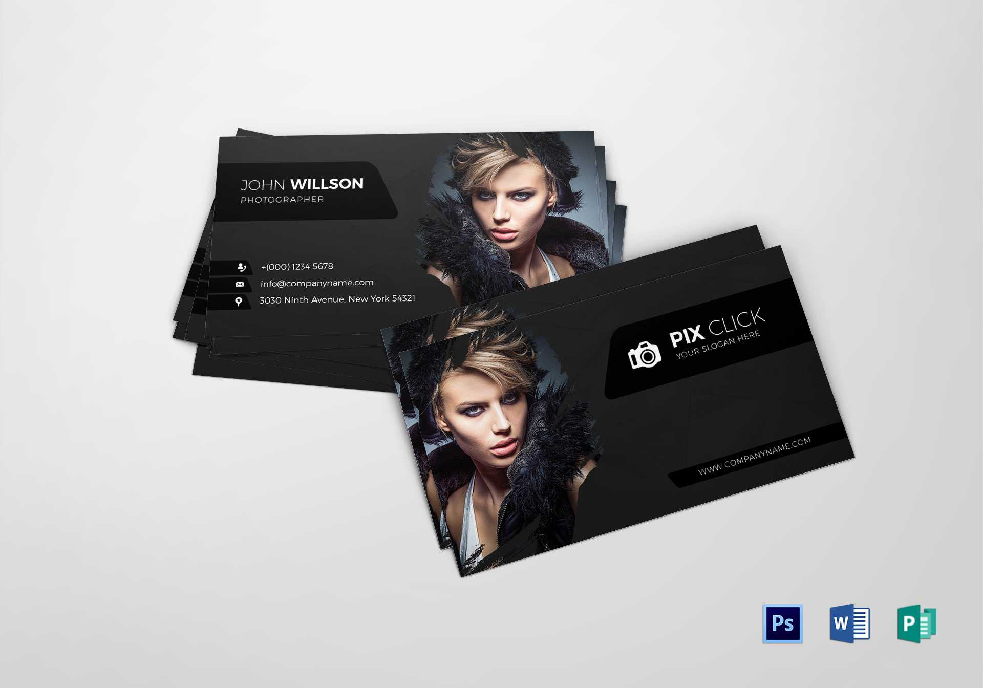 Photographer Business Card Template In Photography Business Card Template Photoshop