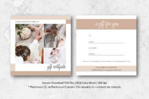 Photography Gift Certificate Template in Gift Certificate Template Photoshop