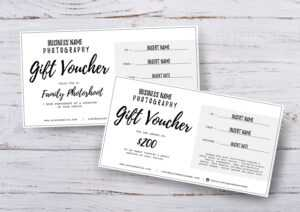 Photography Gift Voucher Certificate Template Psd For Photoshop X 2 pertaining to Photoshoot Gift Certificate Template