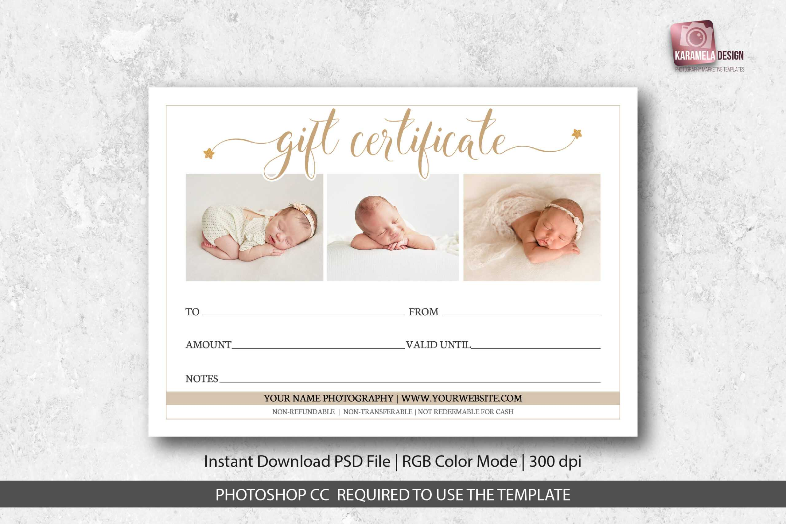 Photography Studio Gift Certificate Template Intended For Photoshoot Gift Certificate Template