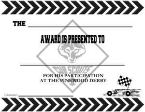 Pinewood Derby Certificates – The Idea Door throughout Pinewood Derby Certificate Template