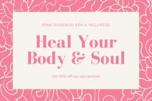 Pink And Cream Massage Gift Certificate – Templatescanva for Pink Gift Certificate Template