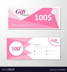 Pink Gift Voucher Template Layout Design Set throughout Pink Gift Certificate Template