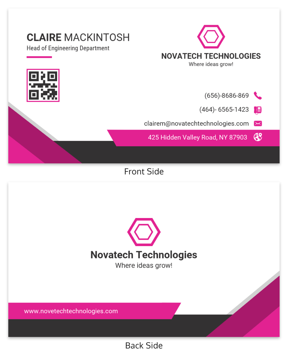 Pink Technology Professional Business Card Template Intended For Dog Grooming Record Card Template