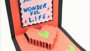 Pixel Heart Popup Card – Diy Tutorialpaper Folds – 968 pertaining to Pixel Heart Pop Up Card Template