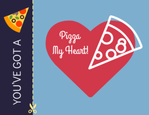 Pizza My Heart Valentine's Day Card Template within Boyfriend Report Card Template