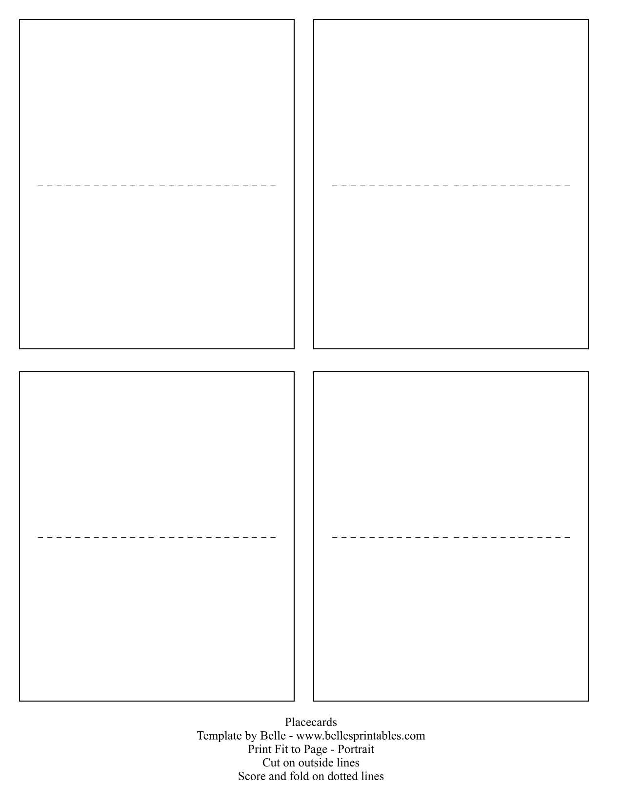 Place Card Template Word - 28 Images - Microsoft Place Card Throughout Fold Over Place Card Template