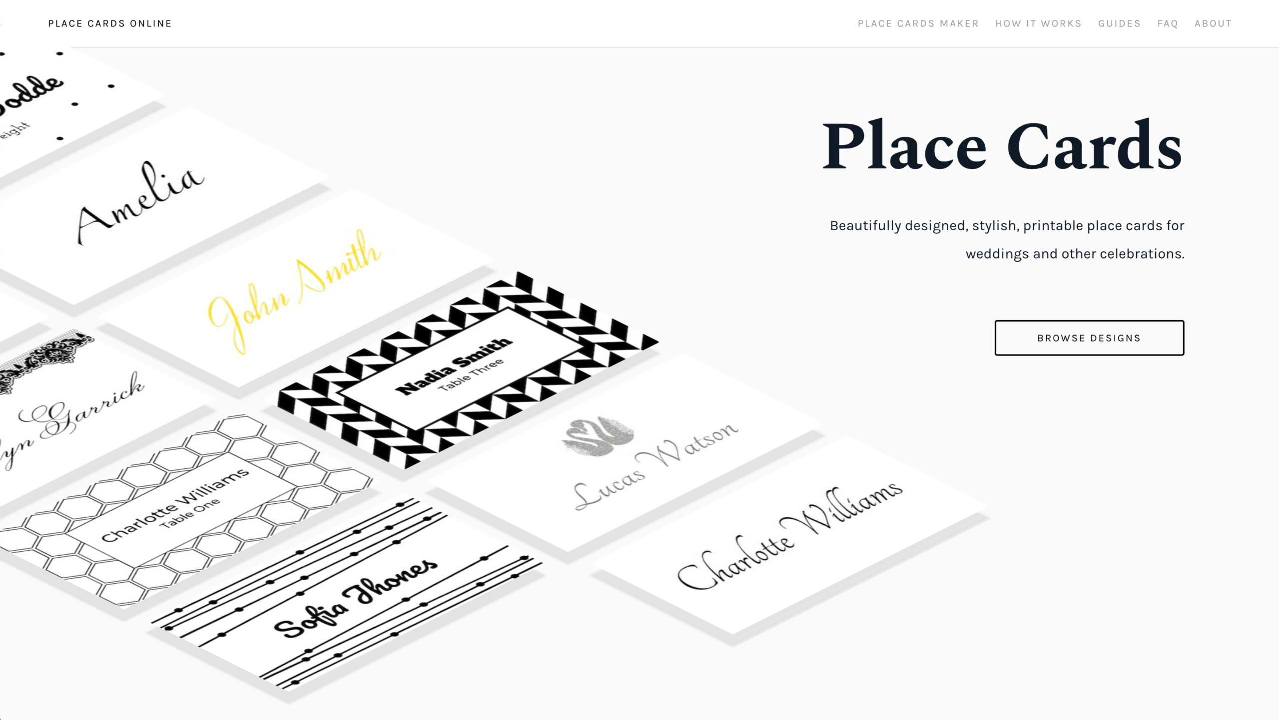 Place Cards Online - Place Cards Maker. Beautifully Designed Regarding Celebrate It Templates Place Cards