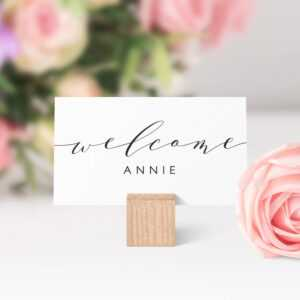 Place Cards Printable Template, Flat And Folded Welcome for Place Card Setting Template