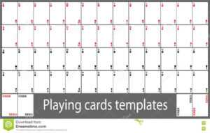 Playing Cards Template Set Stock Vector. Illustration Of inside Free Printable Playing Cards Template